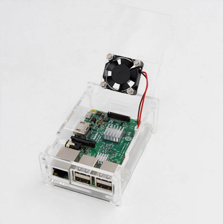 Raspberry Pie 3 Shell Fan Compatible with 3/2 Generation Fan Heat Sink Raspberry Pie B+ Development Board Protection Shell