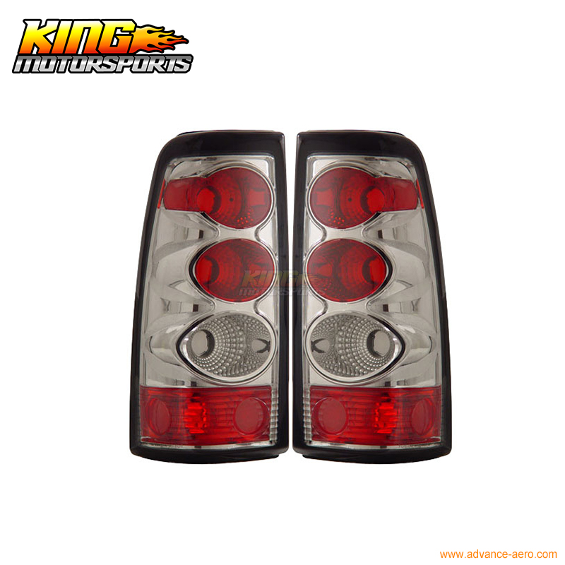 for 2005 2007 06 chrysler 300 300c led tail lights black lamps usa domestic free shipping For 2003-2006 Chevy Silverado Tail Lights Chrome Lamps 04 05 USA Domestic Free Shipping