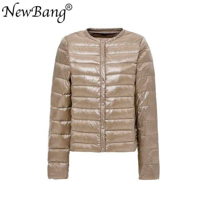 NewBang 4XL Portable   Down   Jackets Women Ultra Light   Down   Jacket Slim Thin O-NECK Feather Jackets Women Windbreaker   Coat