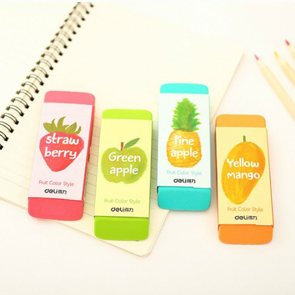 Limit Shows Creative Fruit Color Oversized Eraser Correction Eraser Large Student Rubber Learning Stationery Gift For Kid Hot