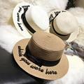Señora bordado sol gorras sombrero fedora arco de las mujeres de verano cinta arco redondo plano de ala ancha sombrero de paja de las mujeres fedora Sombrero de Panamá
