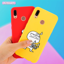 3D Cat Cartoon Patterned Case On For Huawei P20 pro P20 lite P Smart Funny Yellow Back Cover Phone Case For Huawei P Smart Coque(China)