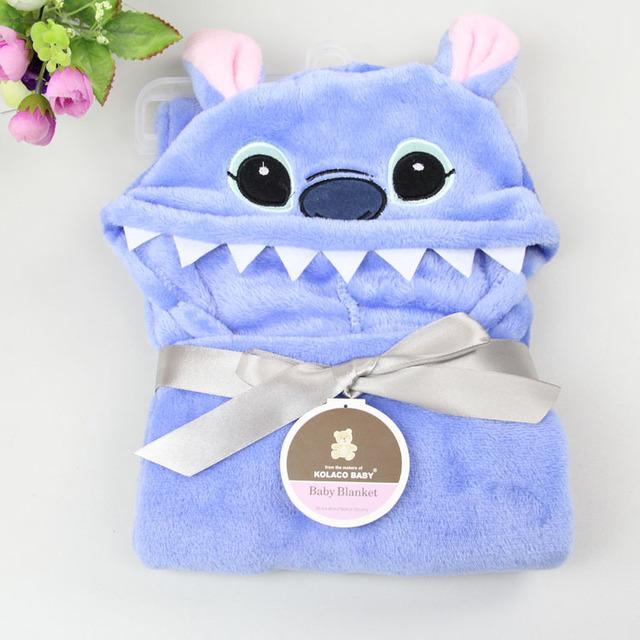 100*100 cm toalla de baño del bebé, franela forma Animal de la toalla con capucha para bebé, Súper suave bebé capote del bebé manta envío Feee