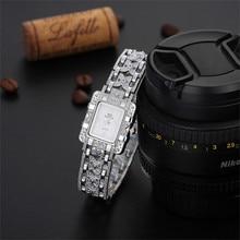 Durable Watches Women Luxury Bracelet Ladies Rhinestone Ceramic Crystal Quartz Watches Magic Girl Gift Wrist Watch