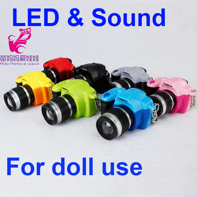 1 Pcs Doll Camera  for BJD Doll DIY 1 / 4 1/3 dod . as . dz . sd doll accessory Key Chains Toys Sound gift Free shipping