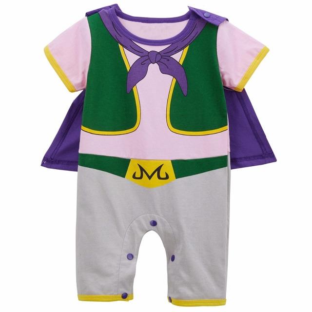 Nouveau-né Bébé Garçon Majin Buu Drôle Costume Barboteuse Mignon Infantile Combishort avec Cape Nouveau Style 0-24 M