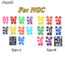 cltgxdd 10Sets,19 colors For Gamecube Controller Mod Colorful Complete button set with 3D Caps NGC solid color