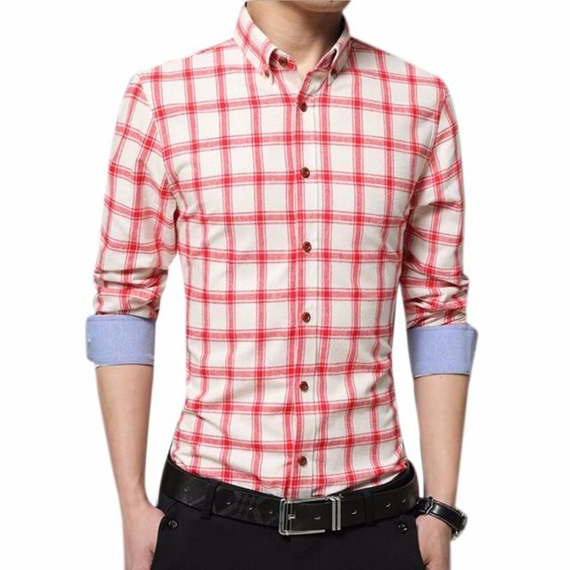 Qiyun. z Marca Mens Camisa A Cuadros Para Hombre Ropa Formal Casual ...