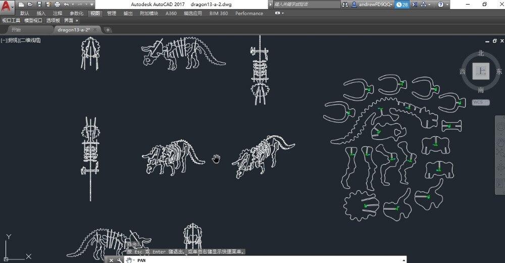 Ben noto Triceratops Dinosauro drago file DWG CAD disegno per cnc incisione  JY55