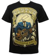 Authentic CLUTCH Band Decapitation Blues T-Shirt Black S M L XL 2XL 3XL NEWMen T Shirts Short my baby s blues band