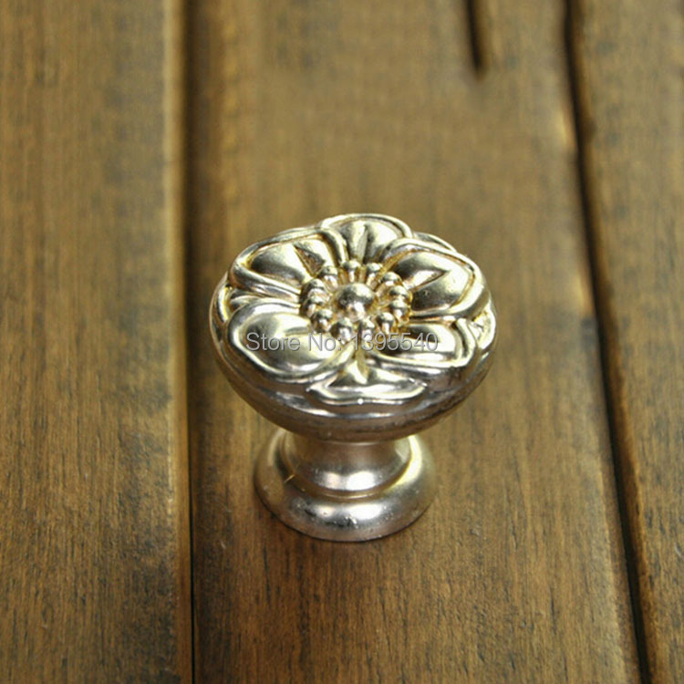33mm Cabinet Drawer Knob Dresser Furniture Rose Cabinet Knobs Cupboard Pulls Closet Cabinet Handles Shoes Box Pulls Rongjing
