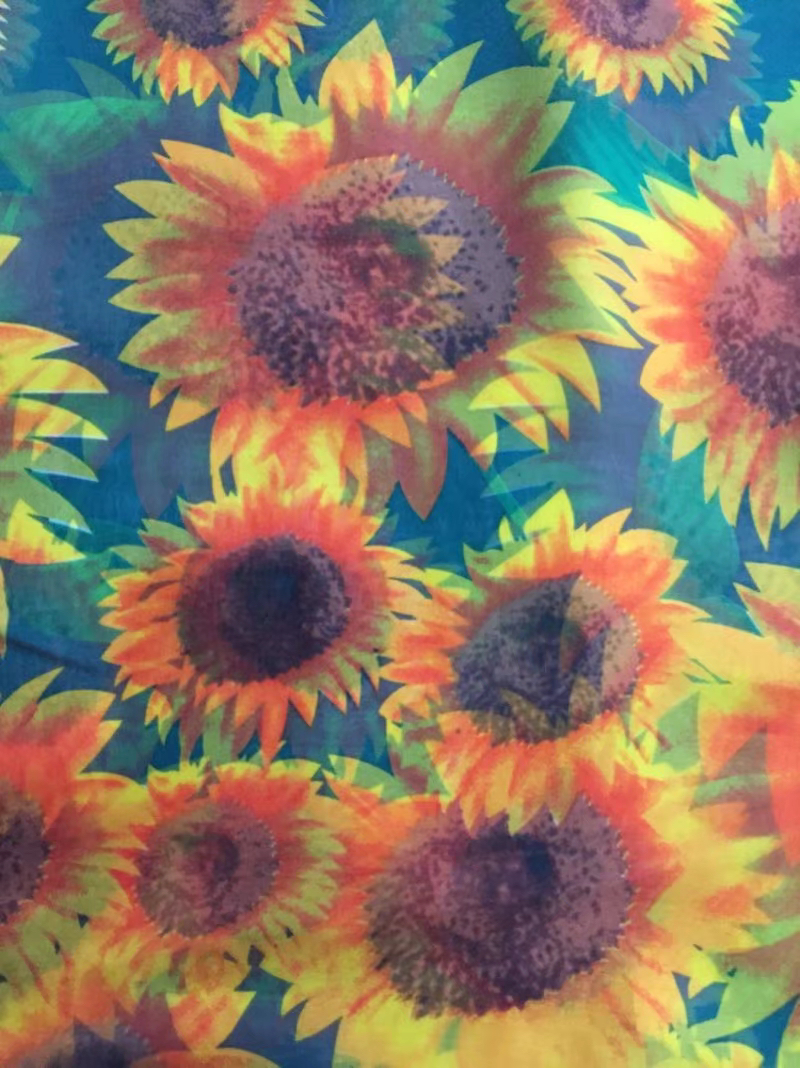 Hoge kwaliteit 2018 populaire 5 yard afrikaanse 100% zijde chiffon kant stof voor dame jurk stretch eersteklas gedrukt zijde stof LXE 8-in Stof van Huis & Tuin op  Groep 3
