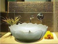 Creative Decoration Lotus sink bathroom vanity wash basin counter basin wash basin Modern Art
