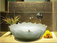 Twórczy dekoracji lotosu umywalka w łazience łazienka umywalka umywalka licznik umywalka sztuki współczesnej