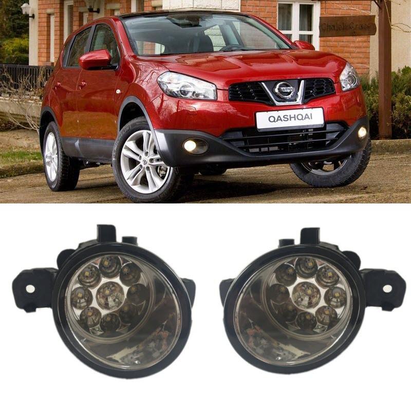 Pour Nissan Qashqai Dualis J10 NJ10 + 2 2006-2013 Pieces Led Brouillard lumières H8 H11 12 V 55 W Halogène LED Brouillard Tête Lampe voiture-Style