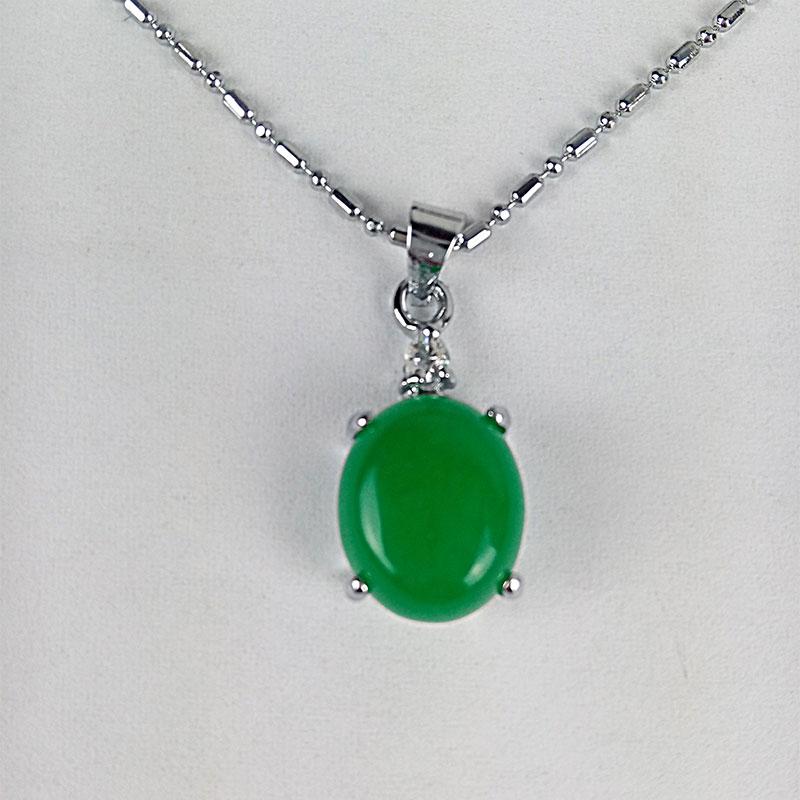 Main incrustation Vert naturel jade collier pendentif boucles d/'oreilles Set AAA qualité supérieure