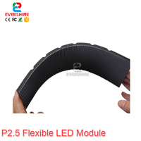 New HD P2.5 indoor full color flexible led module 96x48pixel 1/30Scan led soft panel 360 degree view angle All round display module led panel led display led panel -