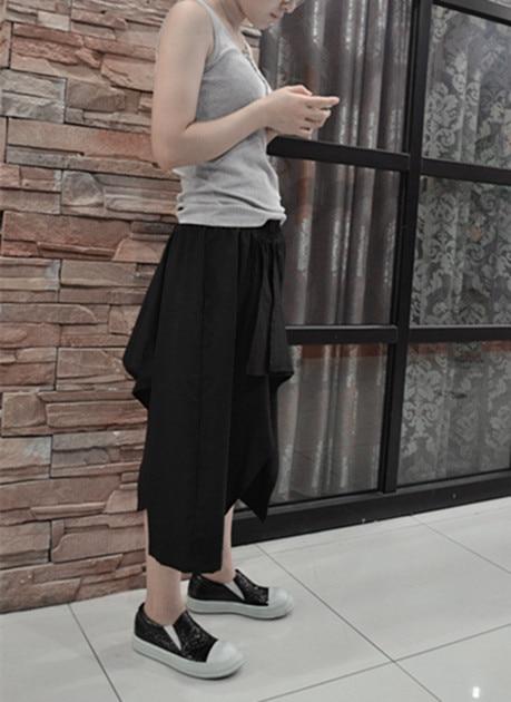 Breites Schwarzes Bein Persönlichkeit Dj Herrenbekleidung Gd Asymmetrische Friseur Plus Mode 2017 44 Mosaik Sarrouel 27 Größe Culottes Kostüme qnTB77