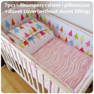 Promoção! 6/7 PCS conjuntos de cama de bebê, capa de edredão, conjuntos de berço cama para crianças, 120*60/120*70 cm