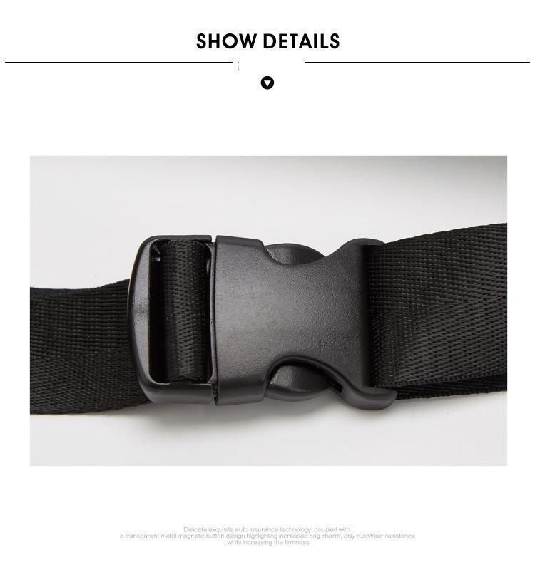 Lxfzq cintura saco fanny pacote cintura sólida