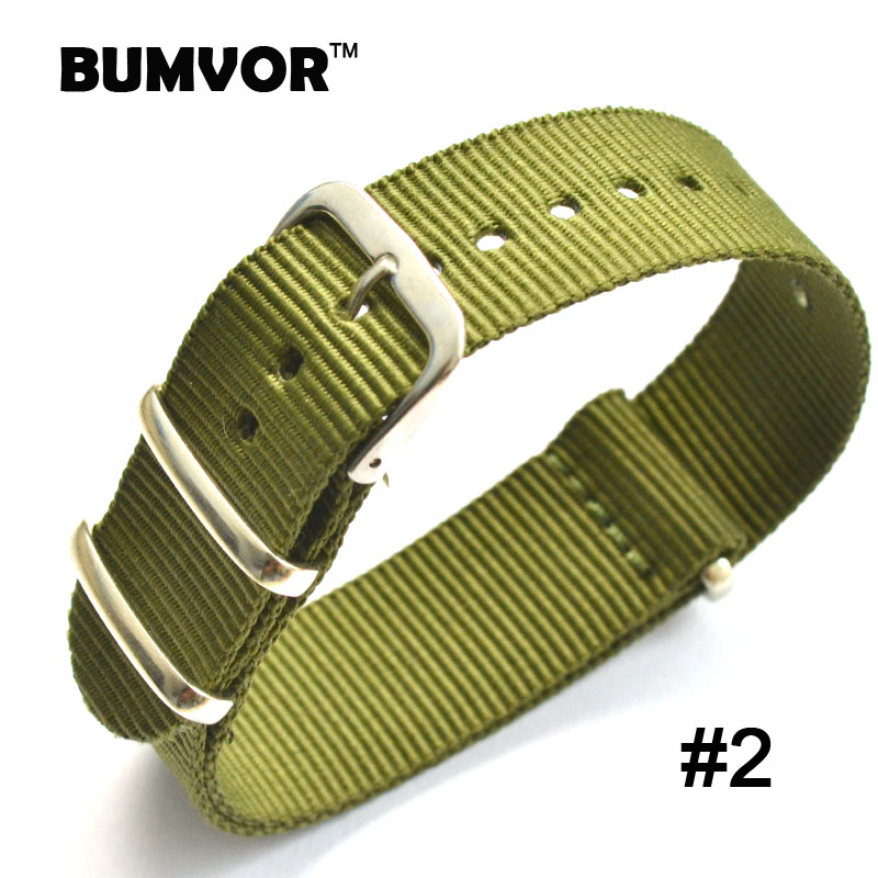 Army Military Nato Vintage Retro Nylon Watch 22 mm Green fabric Woven watchbands Strap Band Buckle belt 22mm accessories high quality 20 22 24mm military nylon army green soft belt bracelet replacement pin buckle sport outdoor watch strap band
