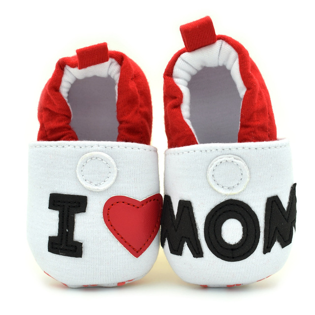 fb33c839fcaca Fashion baby Shoes for girls boys Love Mom/Dad Style shoes cotton Soft Sole Infant  Kids toddler Moccasins Shoes for 0-18M