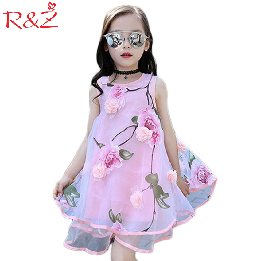 2017 Summer Style Girls Kids Fashion Flower Lace Sleeveless Dress Baby Children Clothes Infant Party Dresses ems dhl free 2017 new lace tulle baby girls kids sleeveless party dress holiday children summer style baby dress valentine