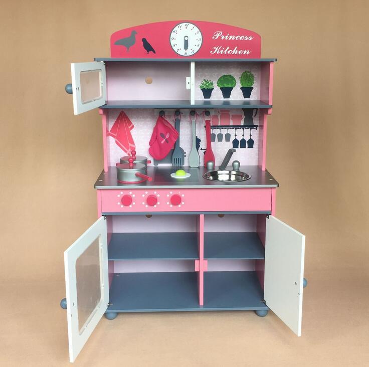 Luxe principal en bois enfants jouets cuisine enfants jouent ...