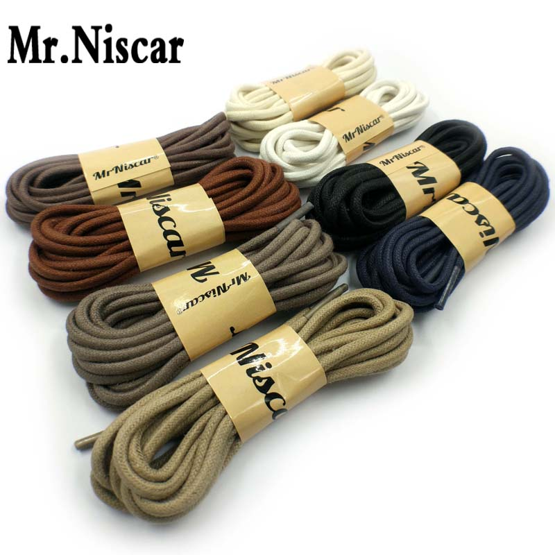 Solid Thick Round Waxed Shoelaces Dress Leather Shoes Wax Shoe Laces Rope String For Ordinary Boots Sneakers Free Shipping