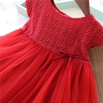 Girls Dresses 2019 Fashion Girl Dress Lace Floral Design Baby Girls Dress Kids Dresses For Girls Casual Wear Children Clothing 4