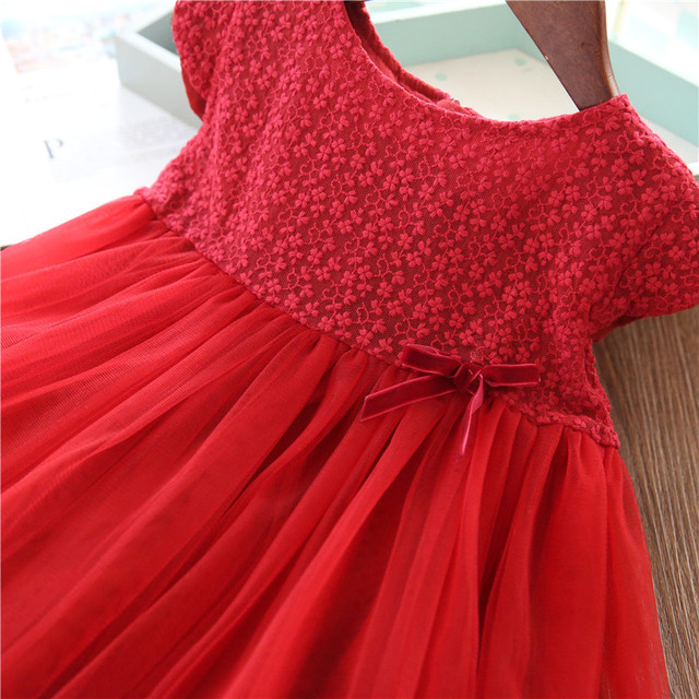 Girls Dresses 2019 Fashion Girl Dress Lace Floral Design Baby Girls Dress Kids Dresses For Girls Casual Wear Children Clothing 4