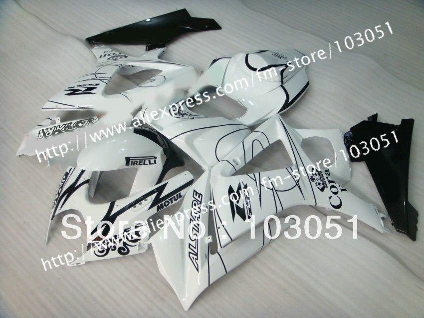 7 gifts body kit for SUZUKI GSXR 1000 2007 fairing GSXR 1000 fairings 2008 fairing K7 07 08 glossy white black Corona sy22 custom road fairing kits for suzuki glossy flat black 2006 gsxr 1000 k5 2005 gsx r1000 06 05 motorcycle fairings kit