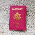 American Passport Cover Pink US Women Passport Holder brand usa travel Cover on the Passport Cute Girls Ameica Passport Case