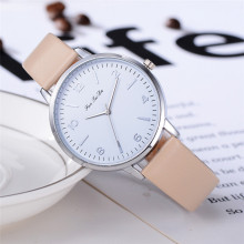 New Watches Women Top brand Fashion ladies Watches Leather women Analog Quartz Wrist Watch Fashion Clock relogio feminino #D simple fashion wooden printed men women watches pu leather quartz wrist watch analog dial watches clock relogio feminino 2017