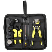 PARON JX D4301 Wire Strippers Tool set Ratchet Terminals Crimping Pliers 4 In 1(Canvas Bag Packing)