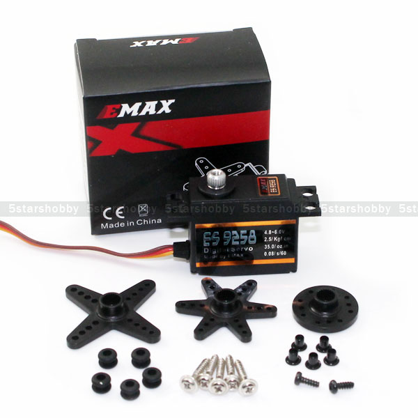 EMAX ES9258 Metal Digital Bearing Tail Servo for RC 450 500 Helicopter vale 3 teachers book