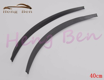 HB 2Pcs/set Carbon Fibre Style Fender Flares Universal Arch Wheel Eyebrows Protect Ant-Scratch family car 44CM 72CM image