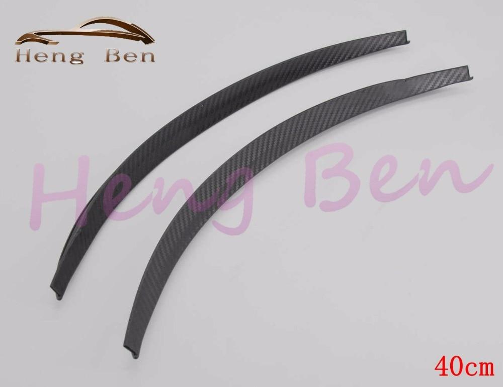 HB 2Pcs/set Carbon Fibre Style Fender Flares Universal Arch Wheel Eyebrows Protect Ant-Scratch family car 44CM 72CM