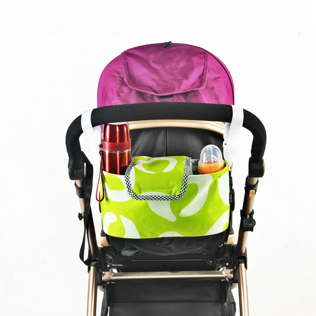 2 Color Waterproof Oxford Cloth Mummy Bags Baby Stroller Storage Bag Baby Chair Bag Baby Bottle Bag1 pcs