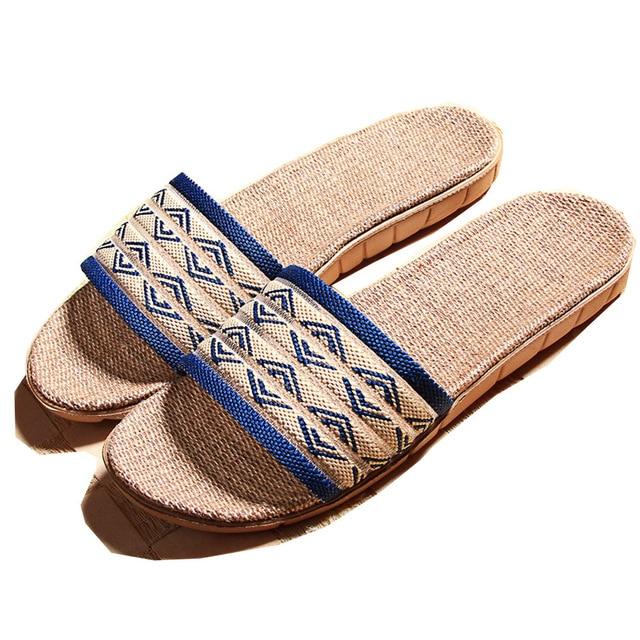 1380ec18019fb New Design Men Women Home Slippers Linen Home Slippers Indoor Bedroom  Sandals Couple Lovers Flax Jute Floor Slippers