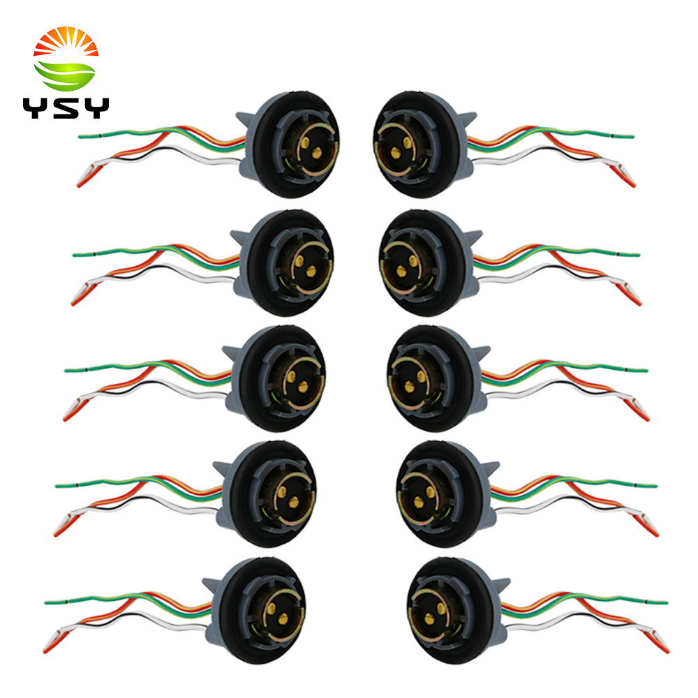 hight resolution of ysy 10pcs 1157 bay15d turn light brake bulb socket connector wire harness plug for led bulbs