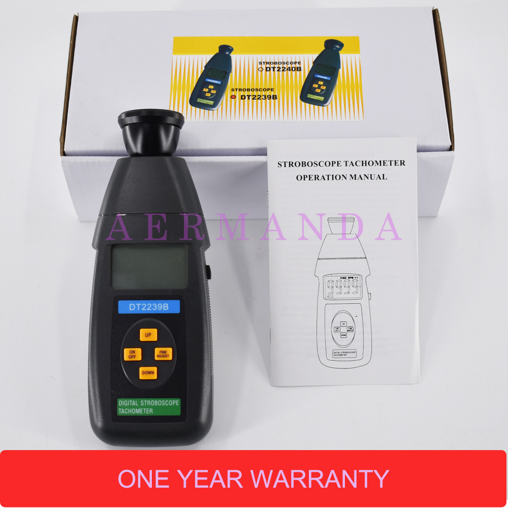 Stroboscope DT2239B Non-Contact flash tachometer Digital photoelectric revolution meter 60~19,999RPM hot sale professional digital non contact stroboscope dm6237p flash frequency meter 60 19 999 rpm per minute tachometer tester