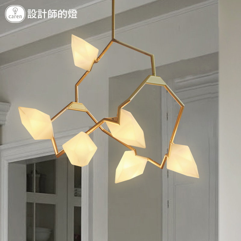 The Nordic Modern Creative Designer Personality Art Branch Tip Chandelier 3/6/9 heads Bedroom Living Room LED Lamps AC90-265V 6 e27 heads nordic post modern designer originality personality art living bed room cafe fashion led chandelier home decor light
