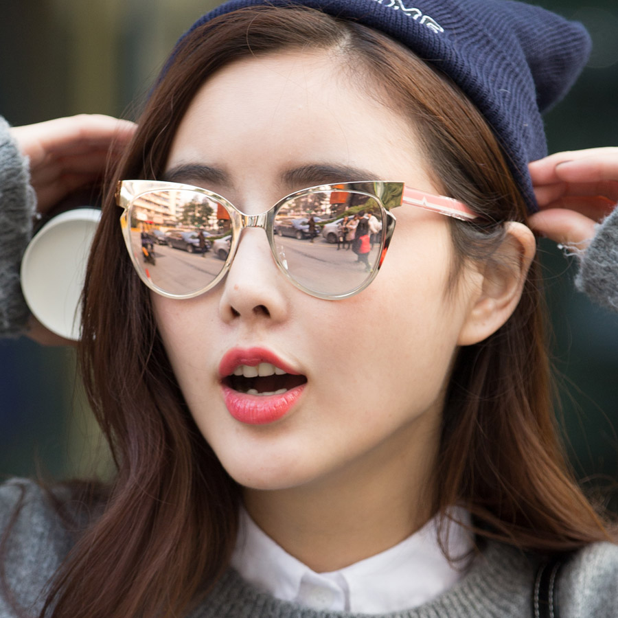 Cat Eye Designer Sunglasses  aliexpress com contain rose gold 2016 new fashion alloy
