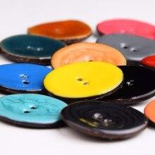 ZXP& XJ 50 шт. 40 мм 2 отверстия Круглый разных цветов Кокосовая оболочка пуговицы подходят для шитья и скрапбукинга декоративные XP0498