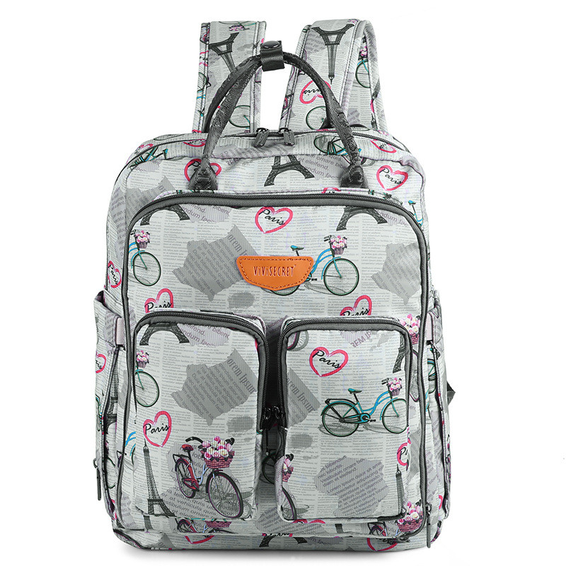 Bike &Swan Printed Cute Fashion Diaper Change Bag Baby Girls Dress Bags Designer Mom Laptop Bags Totes Wholesaler Free Drop Ship drop shoulder printed dress
