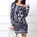 Plus tamaño de las mujeres 2016 nuevo de la moda de primavera Sudadera pullover casual grande 3XL 4XL 5xl suelta de algodón sueltos