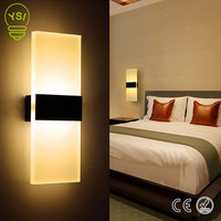 Lâmpadas de parede internas brancas frias brancas quentes do branco quente para a sala de estar do quarto luz conduzida 85-265 v 29 cm da parede do arandela acrílico luzes da lâmpada 220 v 110 v