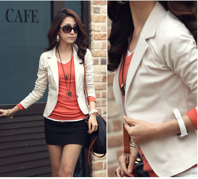 New Fashion Women Blaser2015Spring Autumn Short Blazer Feminino ...