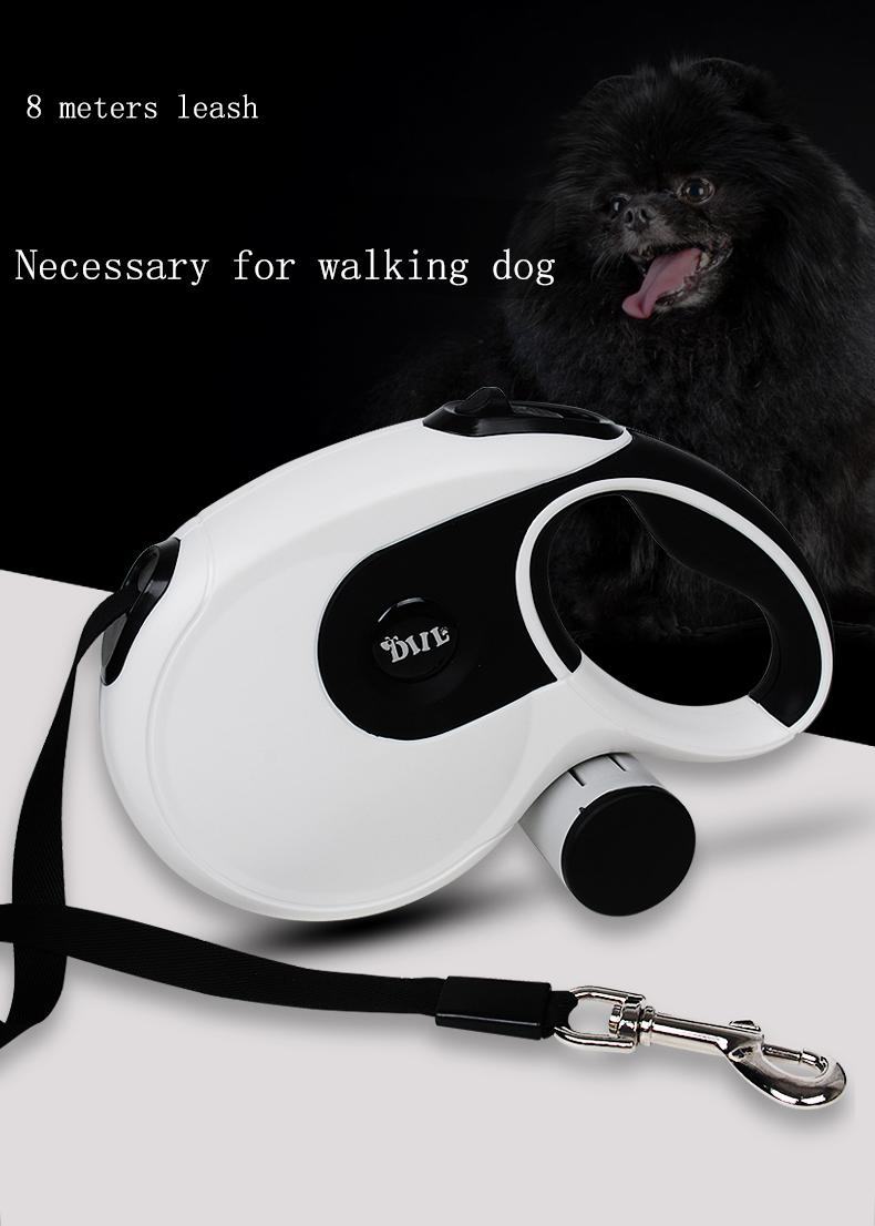 8M Premium Durable Dog Leash Automatic Retractable Dog Leash Large Dog Lead Extending Walking Leads Traction Rope Belt Pet Leash